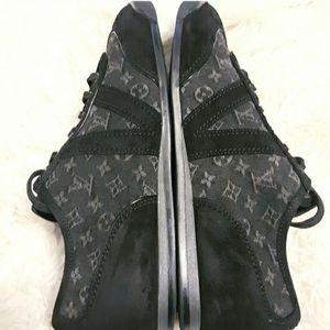 LOUIS VUITTON Signature Suede & Denim Sneakers